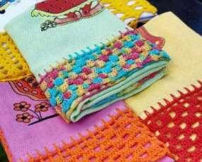 Paños de cocina con crochet