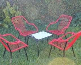 Juego jardín sillón de cable reposerita