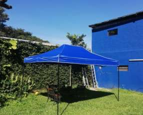 Carpa Toldo Plegable 3x3 mts Lona Impermeable Jardin Casa