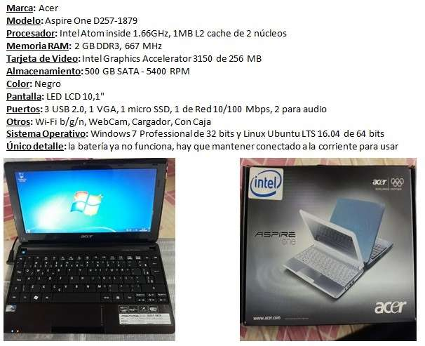 Netbook Acer Aspire One - 0