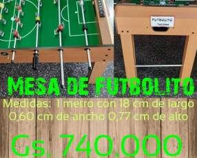 Mesa de futbolito de 1 metro con 18 cm de largo