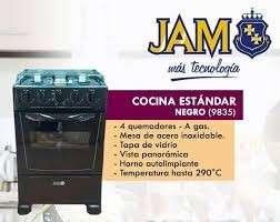 Cocina 4 hornallas a gas jam - 2