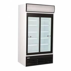 Exhibidora Ugur 771 litros 2 puertas luz tubo puerta deslizante
