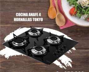 Cocina anafe 4 hornallas encendido electrico