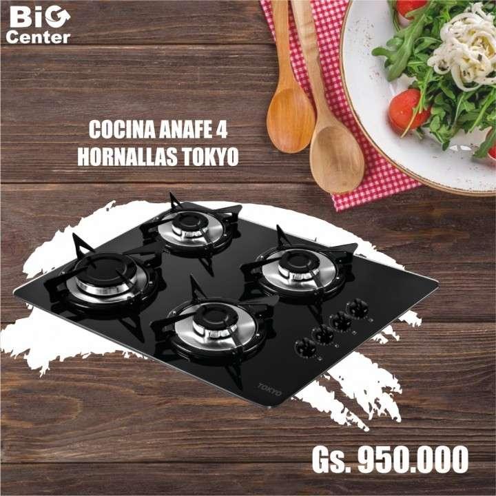 Cocina anafe 4 hornallas encendido electrico - 0