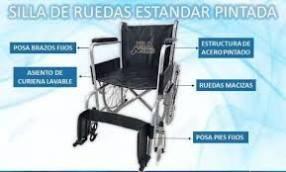 Silla de ruedas ortopédica estándar pintada