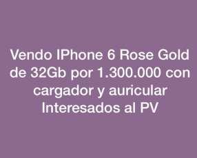 iPhone 6 de 32Gb rosen gold