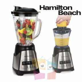 Licuadora con exprimidor jarra de vidrio Hamilton Beach
