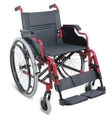 Silla de ruedas con posa brazos rebatibles - 0