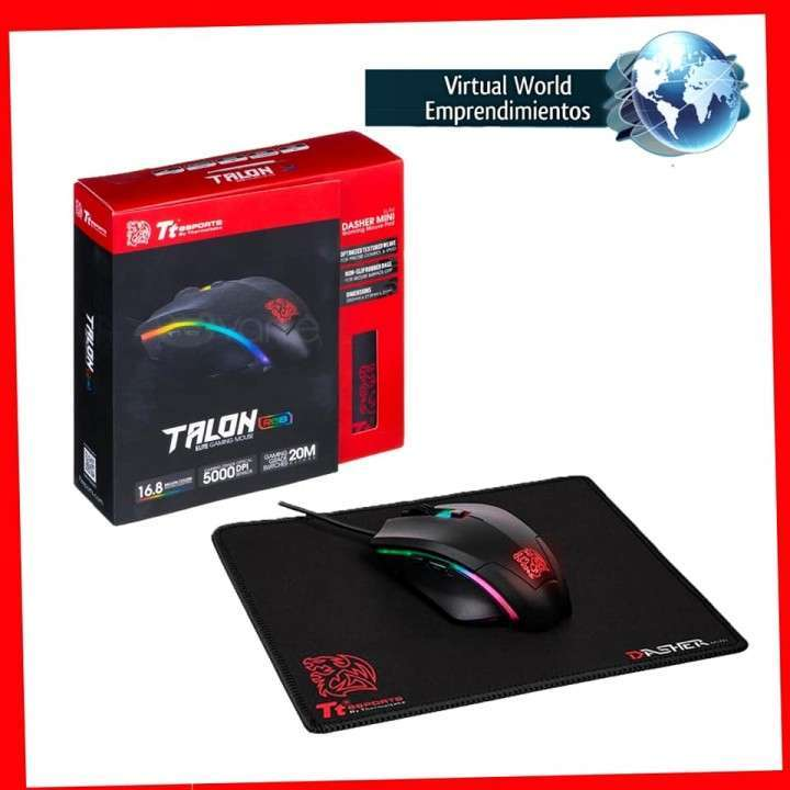 Mouse y mousepad gamer Thermaltake con delivery - 0