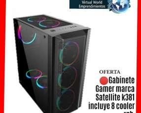 Gabinete gamer K381 Satellite con 8 cooler RGB con delivery