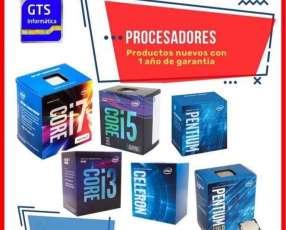 Procesadores Intel - NUEVOS - 1 AÑO DE GARANTÍA c/Delivery G