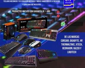 Teclados mecánicos y de sensación mecánica y mouse gamer