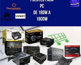 Fuentes para Pc de 180w a 1600w con delivery