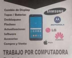 Servicio de reparación de celulares