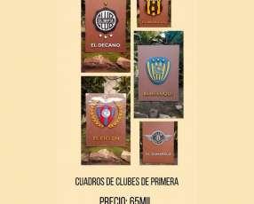 Cuadros personalizados de clubes