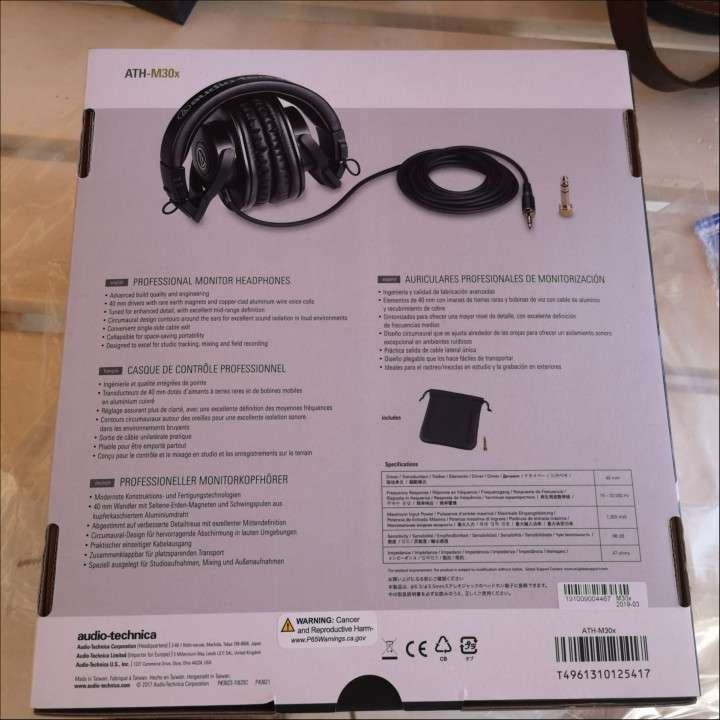 Auricular Audio Technica Ath-M30x nuevo - 1