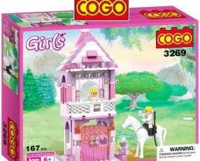 Castillo Princesa y Príncipe a caballo - Juego de Construcci