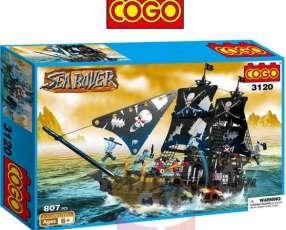 Barco Pirata Gigante - Juego de Construcción - Cogo Blocks