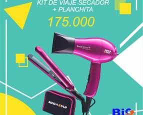 Kit de Belleza Megastar Secador 1000W + Planchita