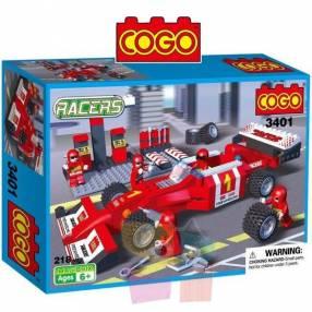 Auto de Formula 1 con Pit - Juego de Construcción - Cogo