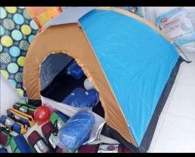 Camping 2 personas colchón inflable de 1 plaza y media