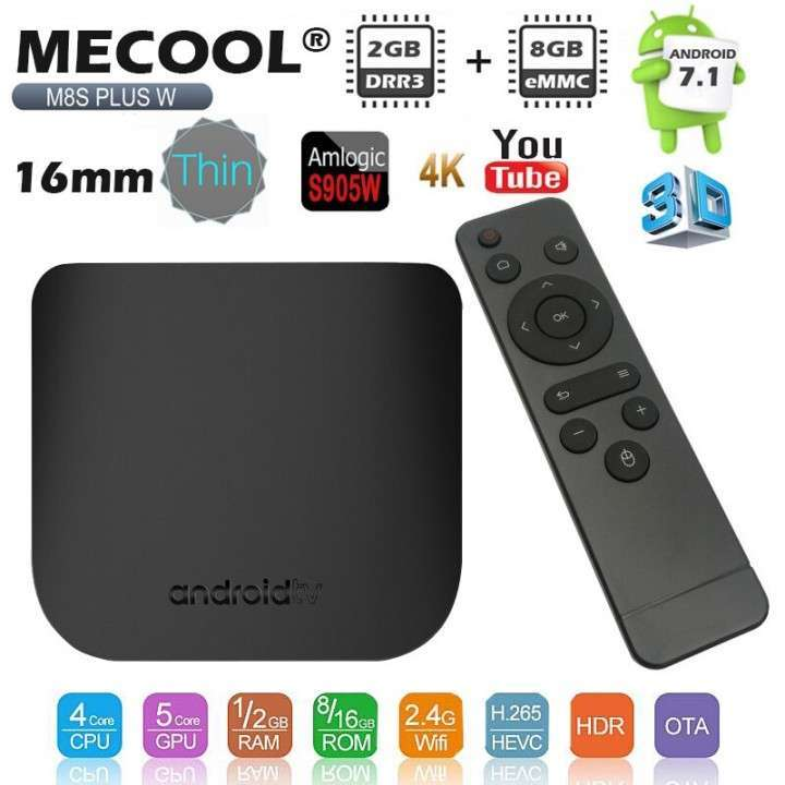 Convertidor smart tv Android Mecool M8S Plus W 2+16 gb - 6