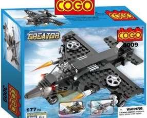 Avion, Lancha, Helicoptero - Juego de Construcción - Cogo Bl