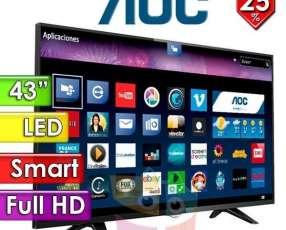 Smart tv led full hd 43 pulgadas de AOC