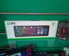Combo RGB teclado y mouse Retro Punk