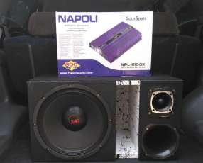 Caja de sonido con amplificador