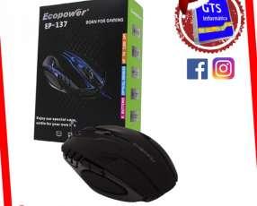 Mouse gamer ecopower ep-137 3200dpi 6 botones rgb