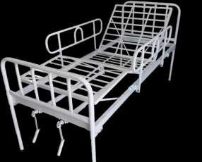 Cama hospitalaria de 2 mov con colchón