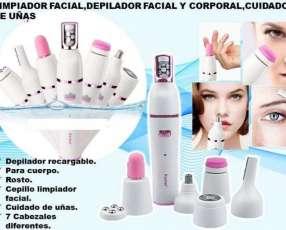Set de limpiador depilador facial y cuidado de uñas