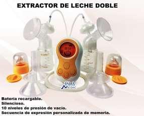Extractor de leche con dos mamaderas