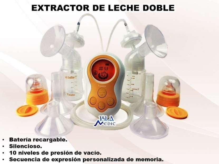 Extractor de leche con dos mamaderas - 0