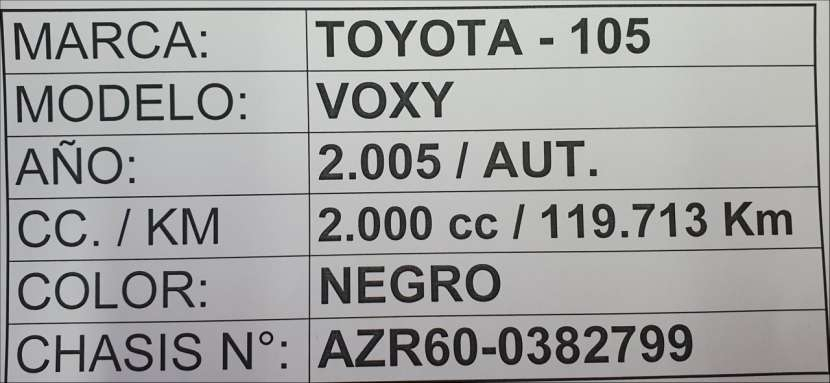 Toyota noah / voxy 2005 - 8
