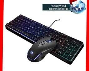 Teclado+mouse gamer hp km200