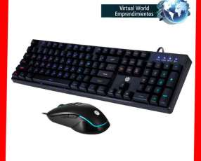 Teclado y mouse gamer HP KM200