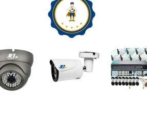 Kit de 8 Cámaras de Seguridad JET c/ HDD 1Tb.