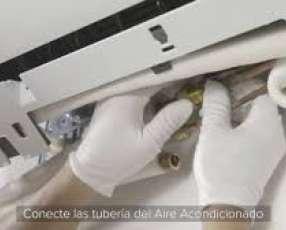 Instalación de aire acondicionado split