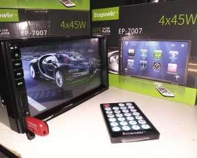 Autoradio Ecopower EP-7007 con pantalla táctil de 7 pulgadas