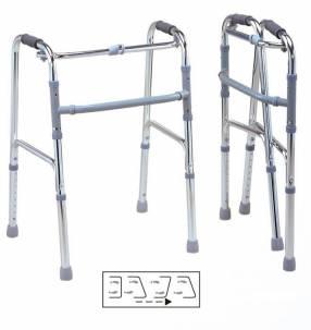Andador con ruedas y sin ruedas plegables para adultos
