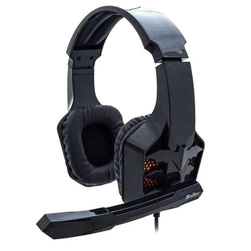 Auricular c/ mic gamer 3.5 y luz usb kolke bat kga-145 - 2