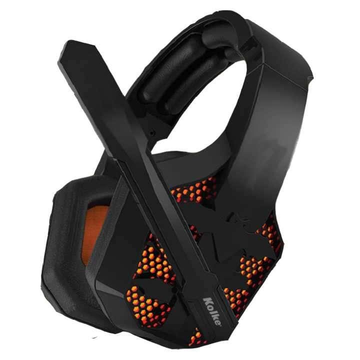 Auricular c/ mic gamer 3.5 y luz usb kolke bat kga-145 - 0