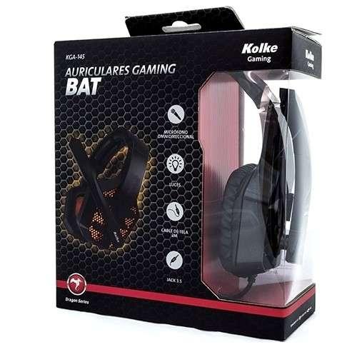 Auricular c/ mic gamer 3.5 y luz usb kolke bat kga-145 - 1