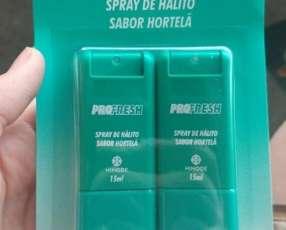 Spray bucal y gel dental