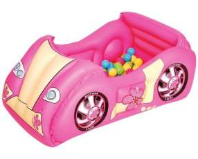 Pelotero inflable rosa