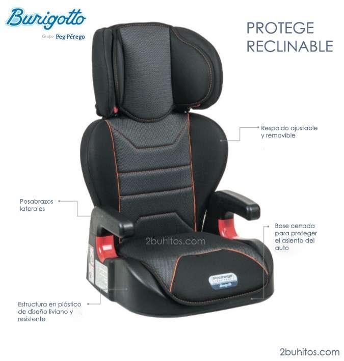 Asiento Burigotto Protege reclinable para niños - 0