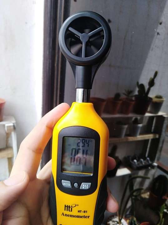 Termómetro de globo y bulbo húmedo WBGT y anemómetro de aspa - 3